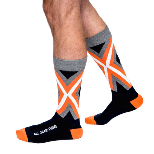 All or Nothing mens luxury inspirational socks by Posie Turner