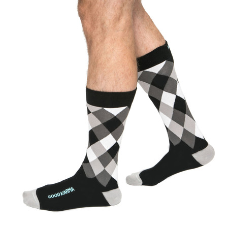 Good Karma inspirational mens socks by Posie Turner