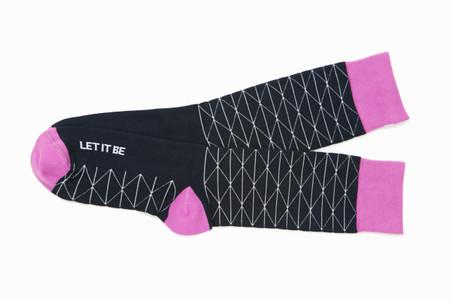 Let it Be modern inspirational gift socks by Posie Turner