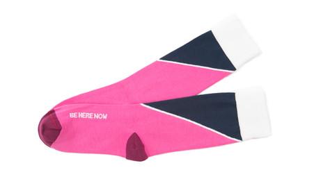 Be Here Now men's yoga socks by Posie Turner