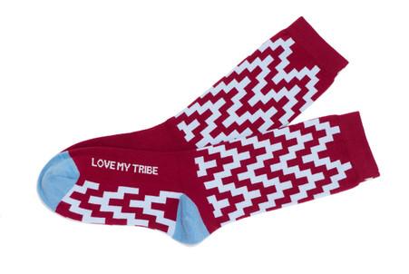 Love My Tribe luxury moderrn bridesmaid socks by Posie Turner