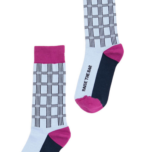 Raise the Bar mens bar exam gift socks by Posie Turner.