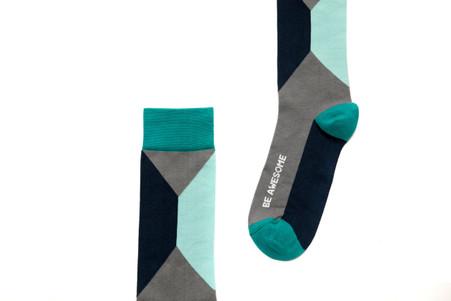 Be Awesome mens golf socks by Posie Turner