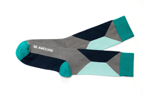 Be Awesome mens inspirational socks by Posie Turner