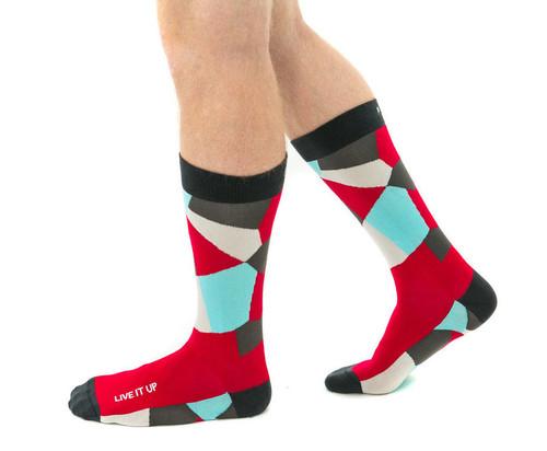 Live It Up mens inspiring gift socks by Posie Turner