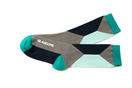 Be Awesome womens uplifting socks by Posie Turner