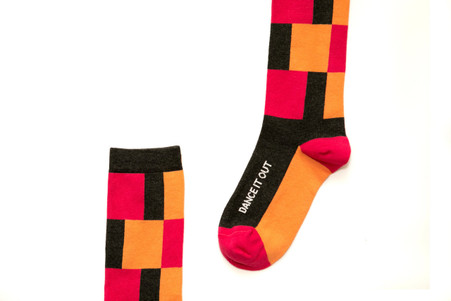 Dance It Out womens inspirational socks by Posie Turner