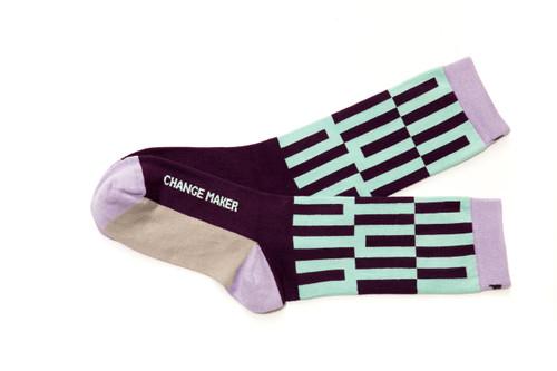 Change Maker modern luxury socks by Posie Turner