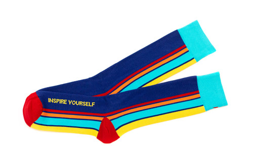 Modern luxury mens gay pride rainbow socks by Posie Turner