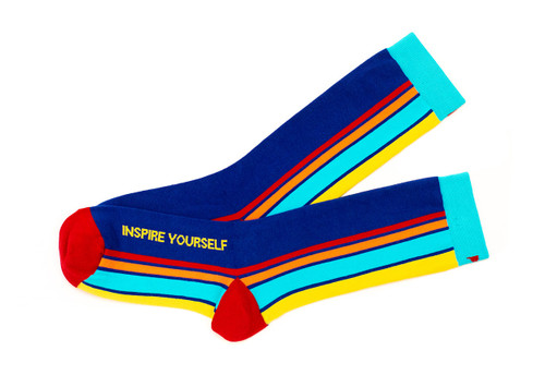 Inspire Yourself Gay Pride Rainbow Socks by Posie Turner
