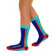 Love is love inspirational rainbow pride socks by Posie Turner