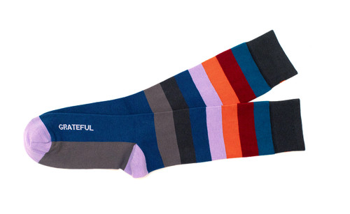 Grateful Inspirational Gift Socks for Men by Posie Turner