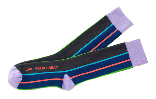 Live Your Dream Men's Inspirational Socks by Posie Turner