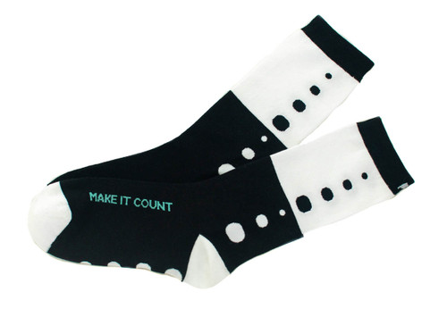 Make It Count inspirational gift socks by Posie Turner