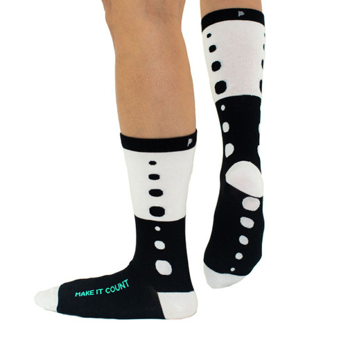 Make it Count womens modern polka dot socks by Posie Turner