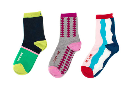 Thank  you luxury gift sock pack by Posie Turner. Woven with peruvian pima cotton.