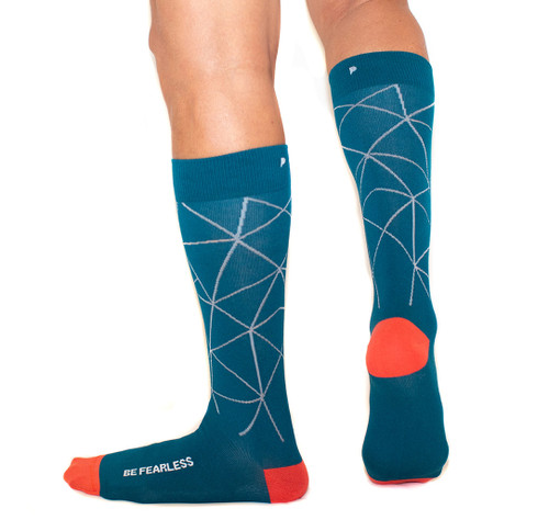 Be Fearless Teal Men's Socks