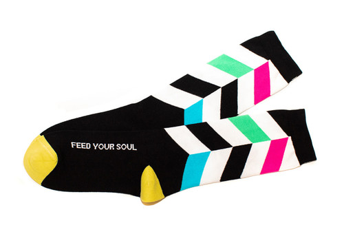Feed your soul  unique yoga gift socks by Posie Turner.