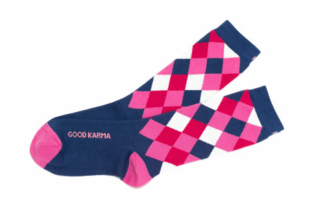 Good Karma original mantra socks by Posie Turner
