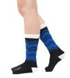 No Regrets motivational socks by Posie Turner.