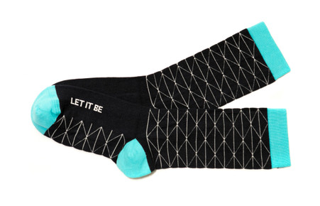 Let it Be modern and inspiring socks by Posie Turner.