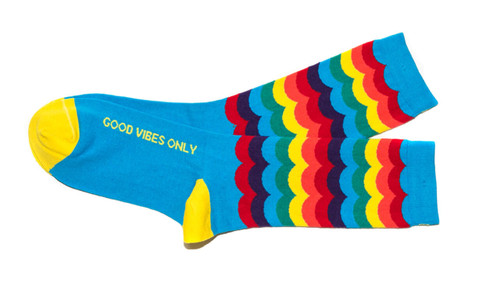 Good Vibes Only inspirational gay pride socks