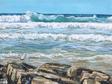 Surrey Artist, Woking. Art of Cornwall scenery. English seaside.