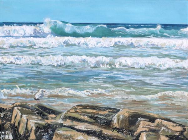 Surrey Artist, Woking. Art of Cornwall scenery. English seaside.