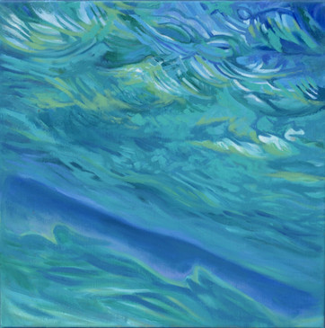 Sea sky water abstract