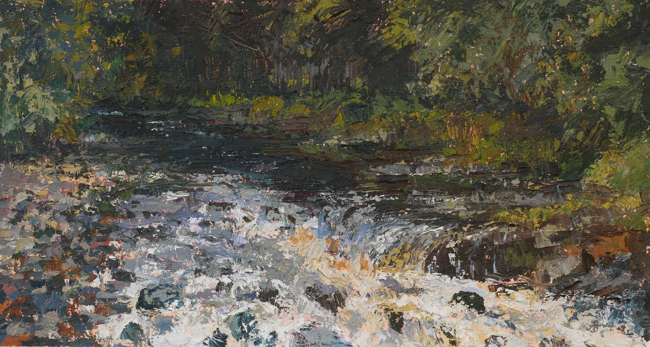 River Dart at Holne in Devon Summer view of rapids