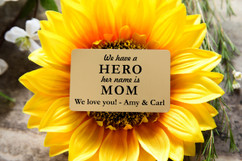 Personalized Wallet Card - Hero Mom