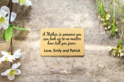 Personalized Wallet Card - A Mother Is