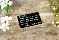 Personalized Wallet Card - Mom I Adore Your Smile