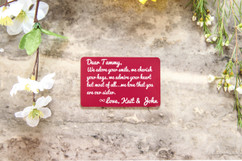 Personalized Wallet Card - Sister I Adore Your Smile