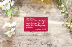Personalized Wallet Card - Brother I Adore Your Smile