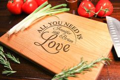 Cherry Personalized Cutting Board ~ All You Need is Love