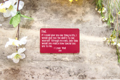Personalized Wallet Card - How Special You Are Dad