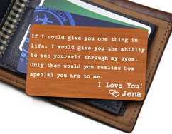 Groupon AU Personalized Wallet Card - If I Could Give