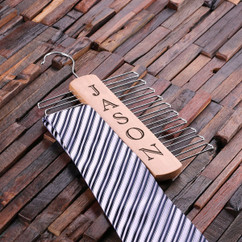 LUX - Personalized Tie Hanger - Vertical Name