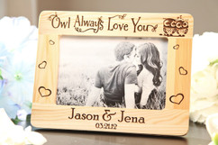 LUX - Personalized Picture Frame - Owl Always Love you