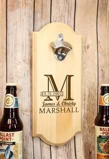 LUX - Personalized Wall Mount Bottle Opener - Imprint Shadow