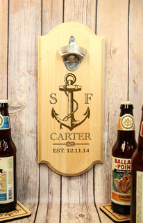 LUX - Personalized Wall Mount Bottle Opener - Anchor