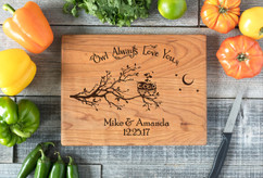 Cherry Personalized Cutting Board ~ Owl Always Love You