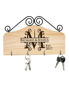 LUX - Personalized Family Key Holder - Initial