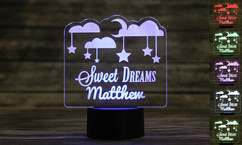 Personalized LED color changing  sign - Sweet Dreams