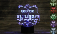 Personalized LED color changing  sign - We first met