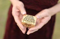 Personalized Trinket Box - With This Ring