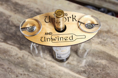 Personalized Wine Caddy & Glass Holder - Unwined