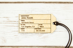 Personalized wood luggage tag - Avant