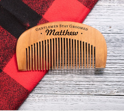 LIMITED Personalized Comb - Stay Groomed Gentlemen